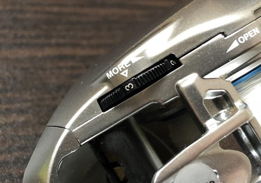 メタニウムMGLのブレーキダイヤルの画像