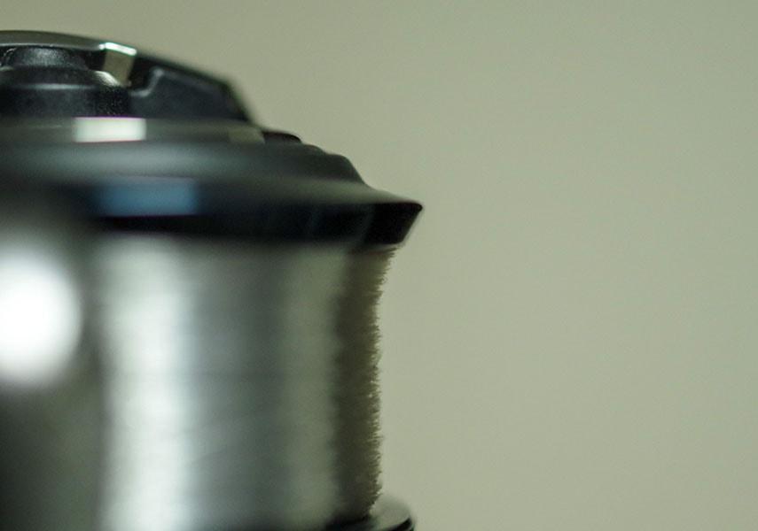 エリアトラウト用ラインをリールに巻いた画像